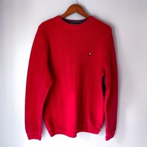 Vintage Chaps Ralph Lauren Red Cable Knit Sweater